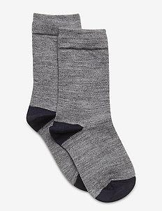 Socks Wool Solid Preschool - sokken - greymelange