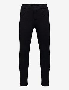 Trousers Jersey Solid School - leggings - black