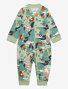 Overall AOP Baby - langärmelig - smoke green