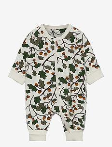 Pyjamas AOP Baby - one-sie - egret