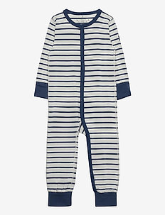 Pyjamas Overall Striped Baby - one-sie - ensign blue