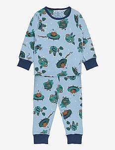 Pyjamas AOP Preschool - zestawy - dusk blue