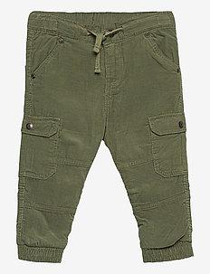 Trousers Cord w lining Preschool - bukser - olivine