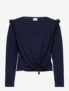 Top L/S  School - blouses & tunieken - dark sapphire