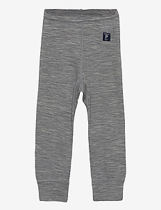 Long Johns Wool Solid Baby - bovenkleding - greymelange