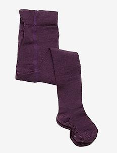 Wool Tights Solid Baby - sokker - moon
