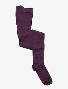 Wool Tights Solid School - sokker - moon