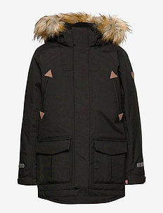 Jacket Padded w Hood School - parkas - black