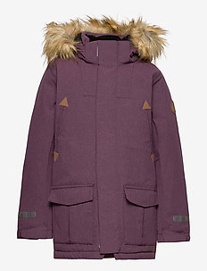 Jacket Padded w Hood School - parkas - moon
