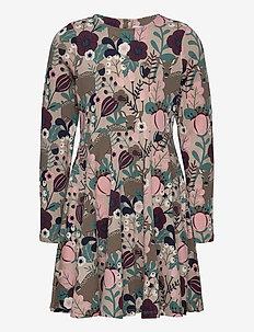 Dress l/s AOP jersey School - sukienki - simply taupe
