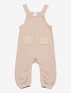 Trousers Knitted Baby - overalls - ecru melange