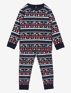 Pyjamas AOP Preschool - sets - dark sapphire