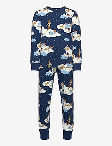 Pyjamas AOP Preschool - sets - ensign blue