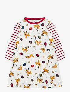 Nightdress L/S AOP Preschool - piżamki - egret