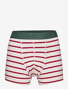Boxer PO.P Striped School - boxershorts - egret