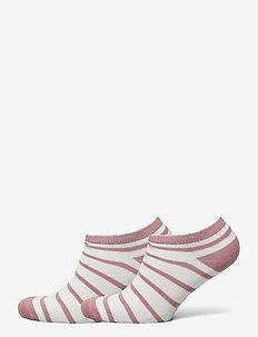 Socks 2-P Ancle Stripe School - strümpfe - woodrose