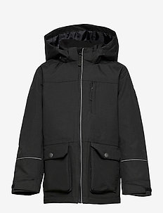 Jacket Short Solid School - shell jassen - black