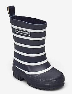 Rubber Boots Striped - gummistiefel - dark sapphire
