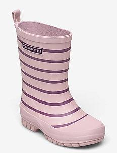 Rubber Boots Striped - schoenen - dawn pink