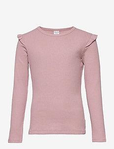 Top L/S solid School - long-sleeved t-shirts - woodrose