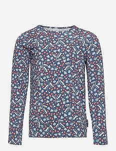 Top L/S AOP School - long-sleeved t-shirts - ensign blue