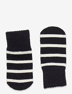 Mitten Wool PO.P Stripe - wol - dark sapphire