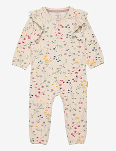 Overall w frill AOP Baby - langärmelig - mother of pearl