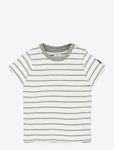 T-shirt S/S striped Preschool - kurzärmelige - green milieu