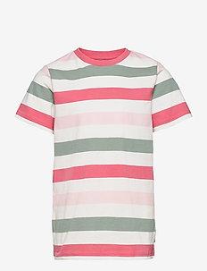 T-shirt S/S striped  School - short-sleeved - tea rose