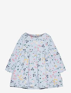 Dress AOP jersey Preschool - kleider - blue fog
