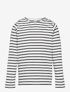 Top l/s striped School - long-sleeved t-shirts - dark sapphire