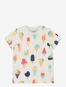 T-shirt S/S AOP Preschool - À manches courtes - snow white