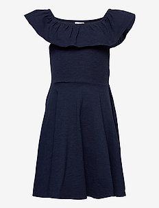 Dress Jersey solid s/s School - kleider - dark sapphire