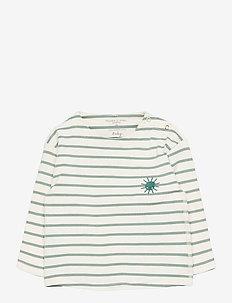 Top L/S PO.P Stripe Baby - langærmede - green milieu