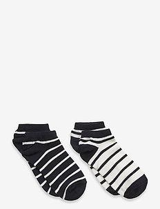 Socks 2-P Ancle Stripe School - strümpfe - dark sapphire