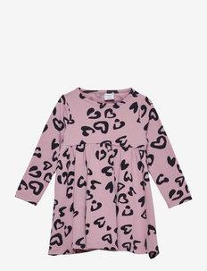 Dress AOP Jersey Preschool - kleider - mauve shadows