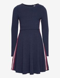 Dress l/s Jersey School - kleider - dark sapphire