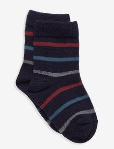 Socks Wool Striped Preschool - strumpor - dark sapphire
