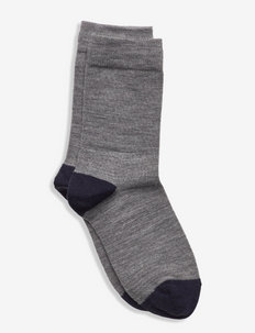 Socks Wool Solid School - strumpor - greymelange