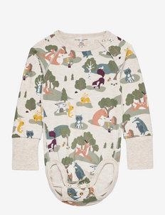 Body AOP Baby - long-sleeved - ecru melange