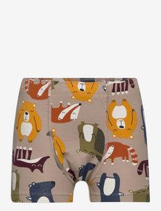 Boy Boxer AOP Preschool - sous-vêtements pour hommes - simply taupe