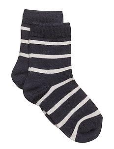Wool Sock striped - DARK SAPPHIRE