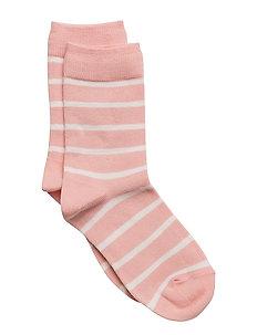 Wool Sock striped - MELLOW ROSE