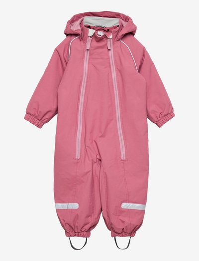 Overall Shell Lined Baby - shell overalls - rose wine