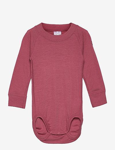 Body Wool Solid Baby - langärmelig - rose wine