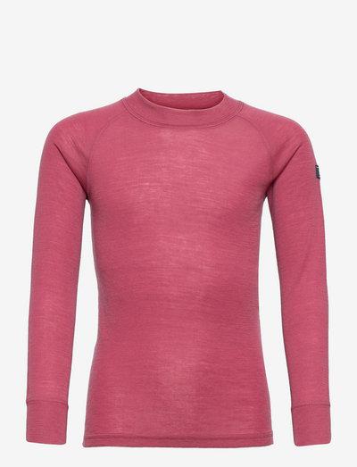 Sweater Wool Solid - langärmelig - rose wine