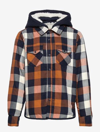 Shirt L/S Checked School - kapuzenpullover - dark sapphire