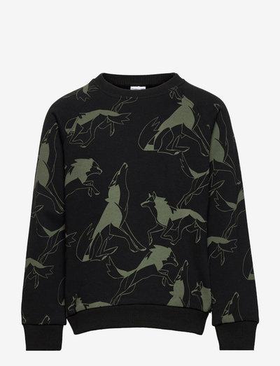 Sweater AOP School - sweatshirts - black
