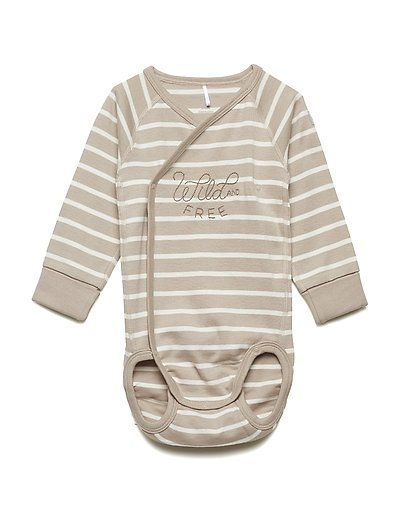 Body striped long sleeve Newborn - SIMPLY TAUPE