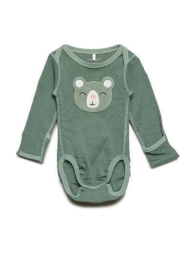 Body applique long sleeve Newborn - GREEN BAY